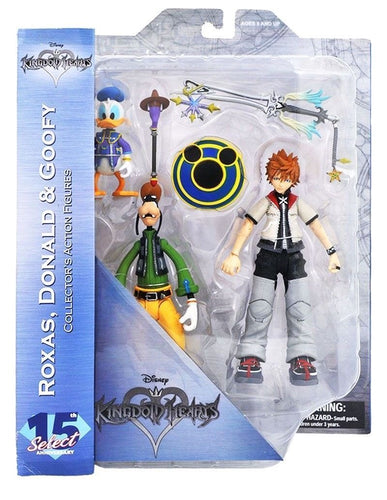 Kingdom Hearts 2 Pack Figuras Roxas Donald y Goofy Packaging