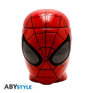 Taza 3D de Spiderman con tapa-vista-frontal