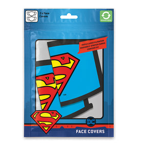 DC Comics Pack de 2 Cubrebocas Logo Superman