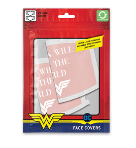 Wonder Woman Pack de 2 Cubrebocas Women will save the world