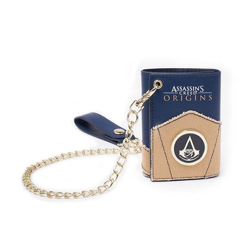 Assassins Creed Origins Cartera Logo con Cadena