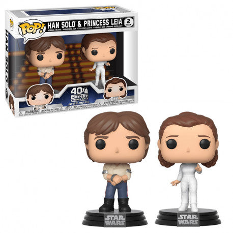 Star Wars Episode V Empire Strikes Back 2 Pack POP! Han Solo & Leia Bespin