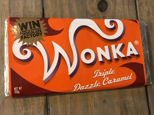 Willy Wonka Tableta Chocolate con Leche y Caramelo