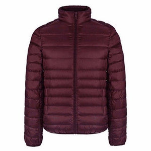 Autumn Winter Jacket Men 2016 New Couples Thin Coats 90% Duck Down Ultra-light Slim Stand-Collar Cotton-Padded Solid Parkas X353-cgabuy