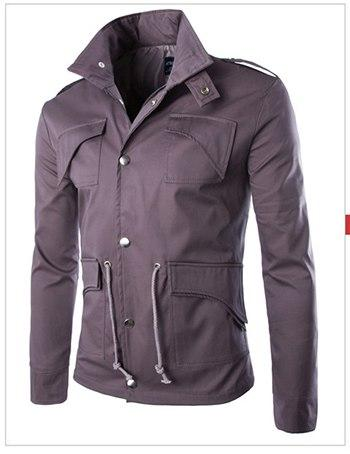 2016 high-quality cotton military jacket British trade temperament Slim large size stylish mens jackets army-cgabuy
