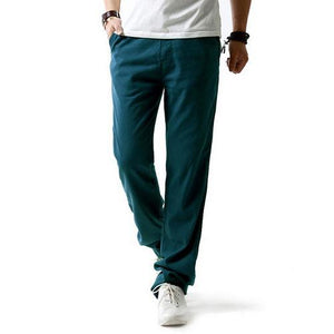 5XL Anti-Microbial Healthy Linen Pants Men 2017 Summer Breathable Slim Flax Trousers Male Boys Hemp Cotton Casual Pants,BM001-cgabuy