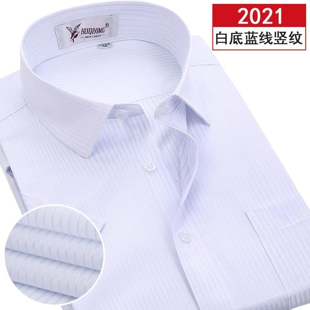 2017 New Arrival Brand Short Sleeve Shirt Men Plus Size Striped Shirt Cotton Formal Style Breathable Summer Mens Dress Shirts-cgabuy
