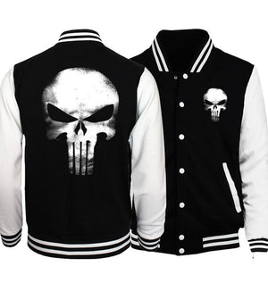 New Plus Size Men Jacket 2017 Spring Bomber Jacket Batman 2/ Film Hero/ Movie/ The Punisher Hip Hop Coat Jackets Sportswear-cgabuy