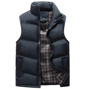 Mountainskin Stand Collar Men's Vests 4XL Winter Sleeveless Jackets Men Coats Army Khaki Solid Casual Vest Male Waistcoats SA354-cgabuy