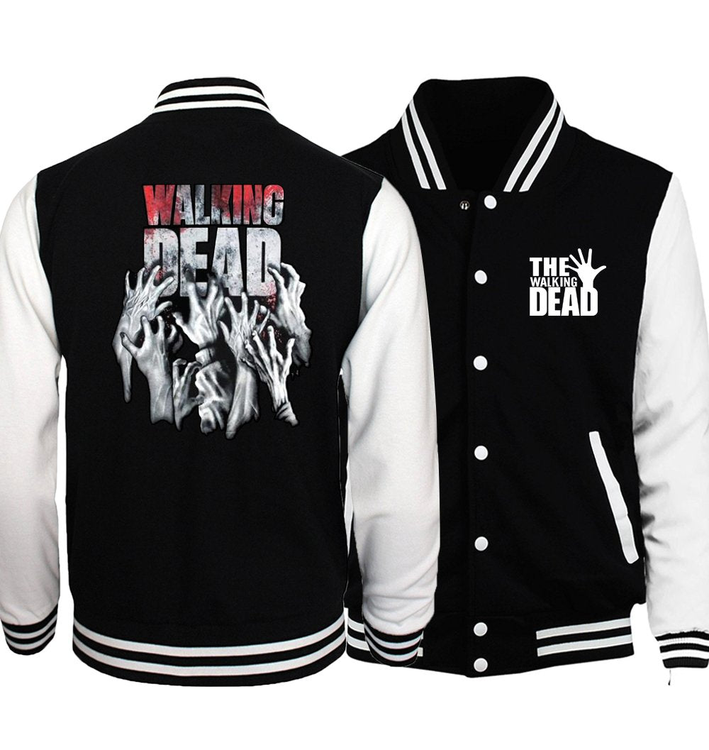 Bomber Jacket Streetwear The Walking Dead Baseball Men Jacket 2017 Hot Spring Jackets Hoodies Coat Fashion Fitness Men's Jacket-cgabuy