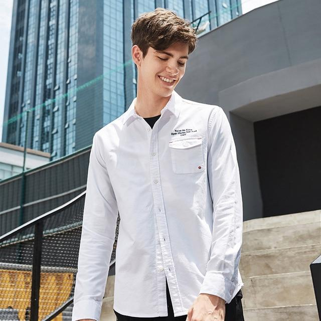 Pioneer Camp new arrival casual shirt men brand-clothing long sleeve autumn spring shirt male quality 100% cotton ACC701322-cgabuy