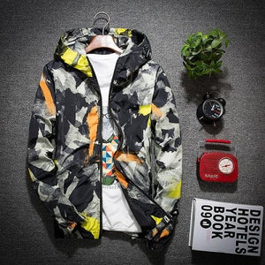Fashion 2017 New Men's Casual Jackets Camouflage Hoodies Jacket Men Windproof Clothes Mens Windbreaker Coats Male Outwear M-5XL-cgabuy