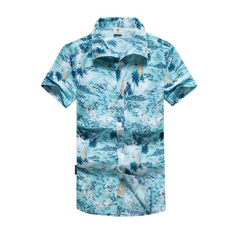 Tailor Pal Love 2018 New Fashion Men's Hawaiian Shirts Summer Fashion Short Sleeve Casual Male Shirt-cgabuy