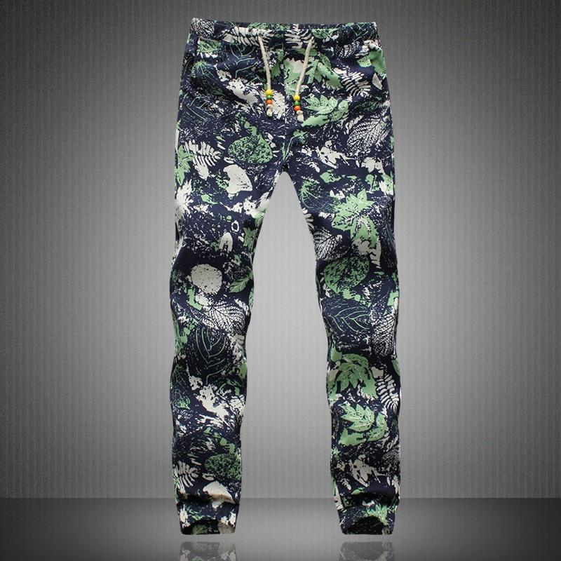 Slack Trousers Harem Pants Casual Hippie Drawstring Linen Mens Exotic Pattern-cgabuy