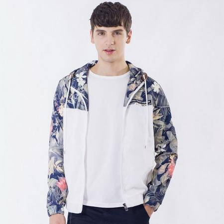 Flower Printed New 2018 Jacket Men Fashion Casual Loose Outwear Mens Jacket Sportswear Bomber Jacket Mens jackets and Coats J50-cgabuy