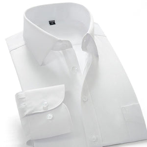 Aoyouku GXW10 10XL Plus size 8XL White Shirt Slim Fit Men's Long Sleeve Business Shirts High Quality Big Size China Dress shirts-cgabuy