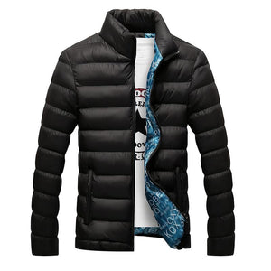 Winter Jacket Men 2018 New Cotton Padded Thick Jackets Parka Slim Fit Long Sleeve Quilted Outerwear Clothing-cgabuy