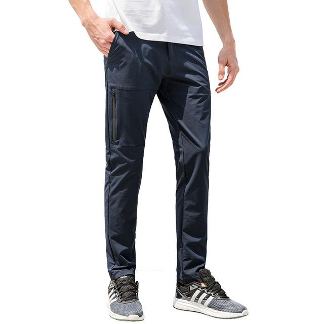Pioneer Camp new waterproof casual pants men brand-clothing simple solid trousers male quality stretch slim fit pants AXX701153-cgabuy