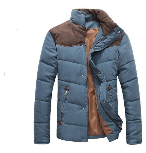 HEE GRAND 2018 Hot Sale Men Winter Splicing Cotton-Padded Coat Jacket Winter Size M-XXL Parkas High Quality MWM169-cgabuy