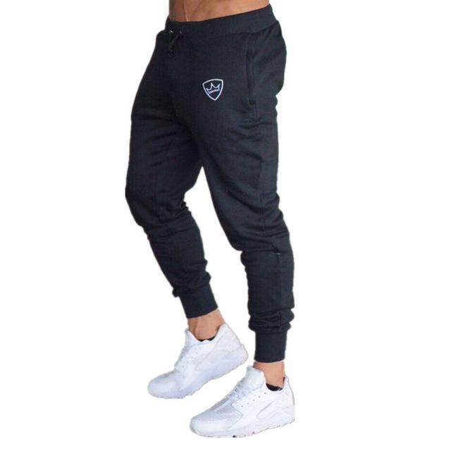 2018 New Men Joggers Brand Male Trousers Casual Pants Sweatpants Jogger Dark grey Casual Elastic cotton GYMS Fitness Workout pan-cgabuy