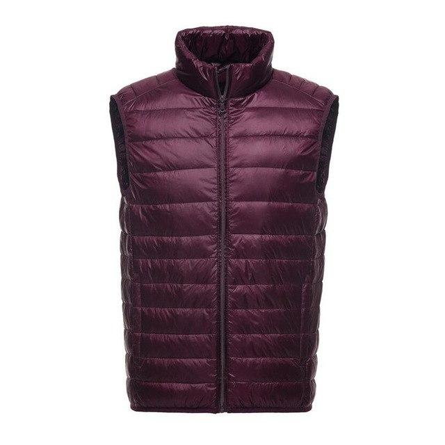 2018 New Brand Vest Men Sleeveless Jacket Winter Autumn Ultralight White Duck Down Vest Male Casual Slim Warm Waistcoat Jackets-cgabuy