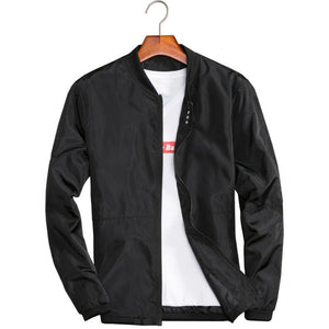 Big Size 4XL 5XL Mens Spring Summer Jackets Casual Thin Male Windbreakers College Bomber Black Windcheater Hommes Varsity Jacket-cgabuy