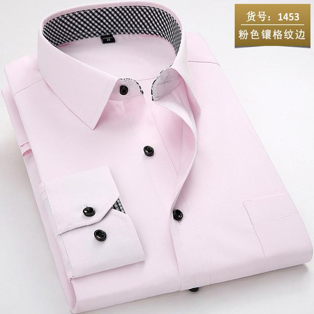 2018 Brand New Men Shirt Male Dress Shirts Mens Fashion Casual Long Sleeve Business Formal Shirt camisa social masculina-cgabuy