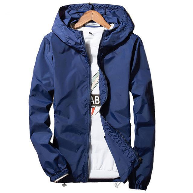 New 2017 Spring Summer Men's Skin Jackets Coat Mens Hoodies Casual Jacket Men's Windbreaker jacket Plus Size S-3XL Brand Outwear-cgabuy