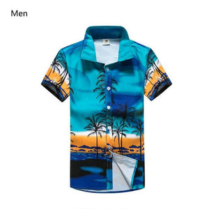 Hawaiian 2018 Summer Brand New Men Short Sleeve Casual Shirt Men's Beach Hawaii Shirts Men Floral Clothes Asia Size 5XL ST30-cgabuy