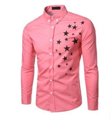 2018 New Mens spring Shirt Male Casual camisa masculina Printed Beach Shirts Long sleeves brand clothing Asian Size 2XL-cgabuy
