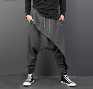 INCERUN Vintage Men Loose Drop Crotch Drape Pants Dance Baggy Trousers Men Drawstring Harem Pants Men pantalon hombre Plus Size-cgabuy