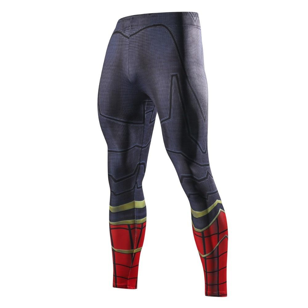 New Spiderman Superhero Fashion Pants Men 3D Compression Brand Skinny Pants Crossfit Male Trousers Fitness Casual Leggings Men-cgabuy