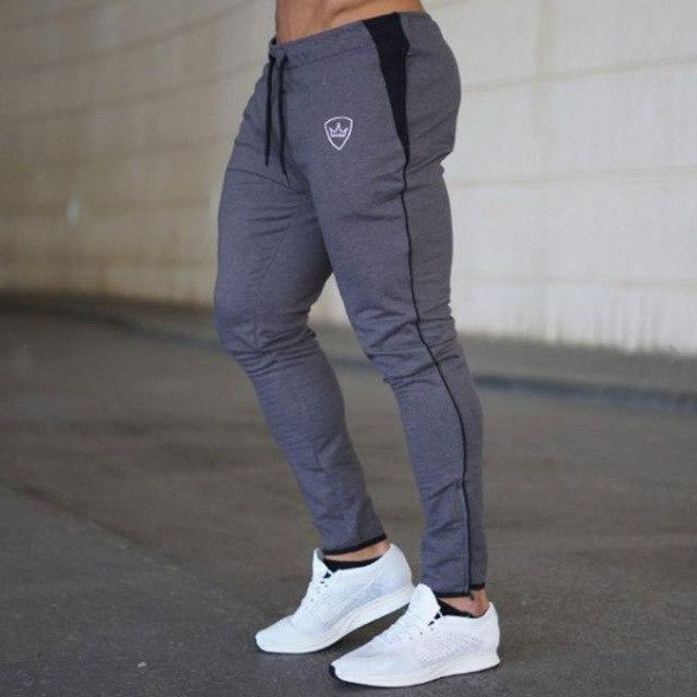 SJ 2018 Mens Pants Bodyboulding Cotton Clothing Street Trousers Fitness Jogger Sweatpants Casual Sweat Pants-cgabuy