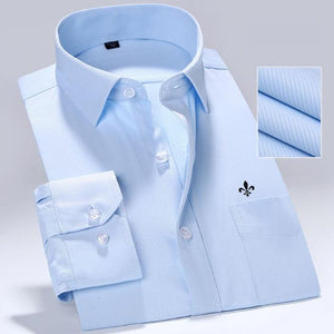 DUDALINA 2018 Men Casual Long Sleeved Pocket High Quality Shirt Slim Fit Male Social Business Dress Shirt Brand Men Clothing-cgabuy