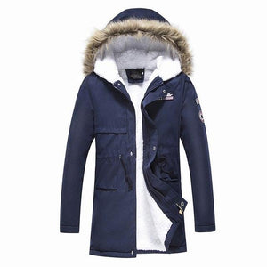Male Coat Hooded 2017 Men's Warm Korean Style Padded Jacket Male Hooded Casual Winter&Autumn Coats Add the cashmere parkas-cgabuy