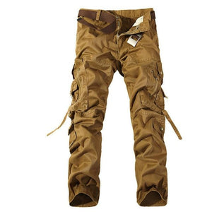 2018 Top Fashion Multi-Pocket Solid Mens Cargo Pants High Quality Casual Slim Workout Men Trousers Size 28-40-cgabuy