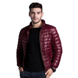Spring Autumn Winter Men Down Jacket Casual Coats Stand Collar Fashion Warm Coat Mens Ultra Light Thin White Duck Down Jackets-cgabuy