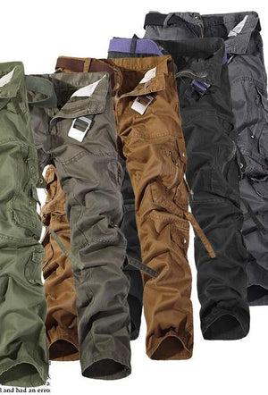 2017 Autumn Men Cargo Pants army green grey black big pockets decoration Casual easy wash male autumn pants Free shipping 28-42-cgabuy