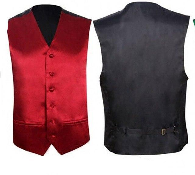 New Royal Blue Mens Slim Fit Coletes Homem Vest Sleeveless Wedding Groomsmen Formal Waistcoat Groom Solid Color-cgabuy