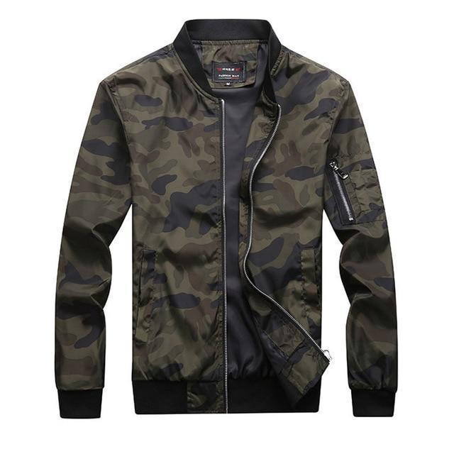 Varsanol New 2018 Jacket Men Casual Loose Mens Jacket Bomber Jacket And Coats Plus Size M- 7XL 100kg Camouflage Outwear Tops-cgabuy