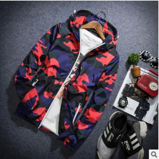 New 2018 Autumn Hooded Jackets Men Thin Camouflage Military jacket Male Plus Size XXXXXL Quick Dry Men Windbreaker Skin Jacket-cgabuy