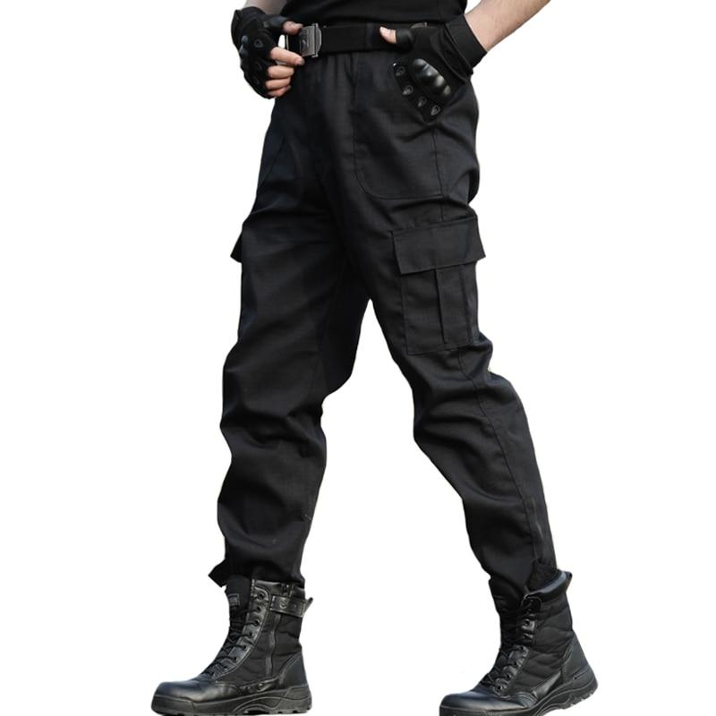 Tactical Trousers Cargo Pants Men Military Work Clothes Homme Special Forces SWAT Army Combat Trouser Cheap Black Pants Thin-cgabuy