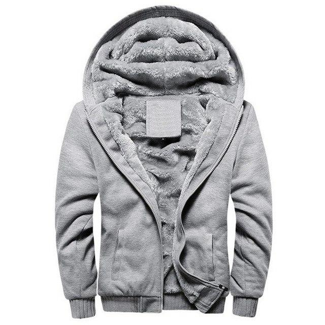 Winter Warm Jacket Men Hooded Casual Wool Thickened Sweatshirts Coat Zipper Cardigan Hoody Man Clothing Patchwork Fleece Outwear-cgabuy