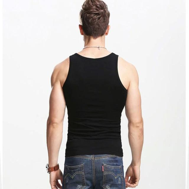 Cncool Casual Gilet Men O-Neck Tank Tops Summer Male Bodybuilding Sleeveless Vestliligla-liligla