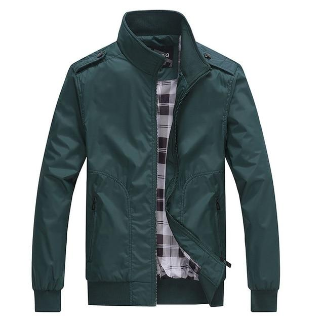 NaranjaSabor Spring Autumn New Men's Casual Jackets Fashion Male Solid Coats Slim Fit Military Jacket Branded Men Outwears 4XL-cgabuy
