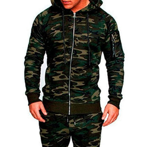 NIBESSER Men Camouflage Tactical Clothing Fashion Camo Printed Jacket Slim Fit Jacket Casual Zipper Jacket Military Coat Autumn-cgabuy