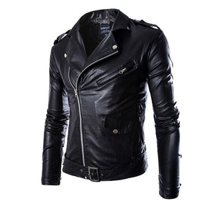 VERTVIE New Autumn Men's PU Leather Jacket For Men Fitness Fashion Male Suede Jacket Casaco Masculino Casual Coat Male Clothing-cgabuy