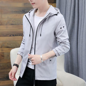 Spring Autumn Mens Casual Hoodie Jacket Men Anti-Wrinkle Breathable Clothes Men's Anti-Shrink Soft Coat Male Jackets Outwear 3XL-cgabuy