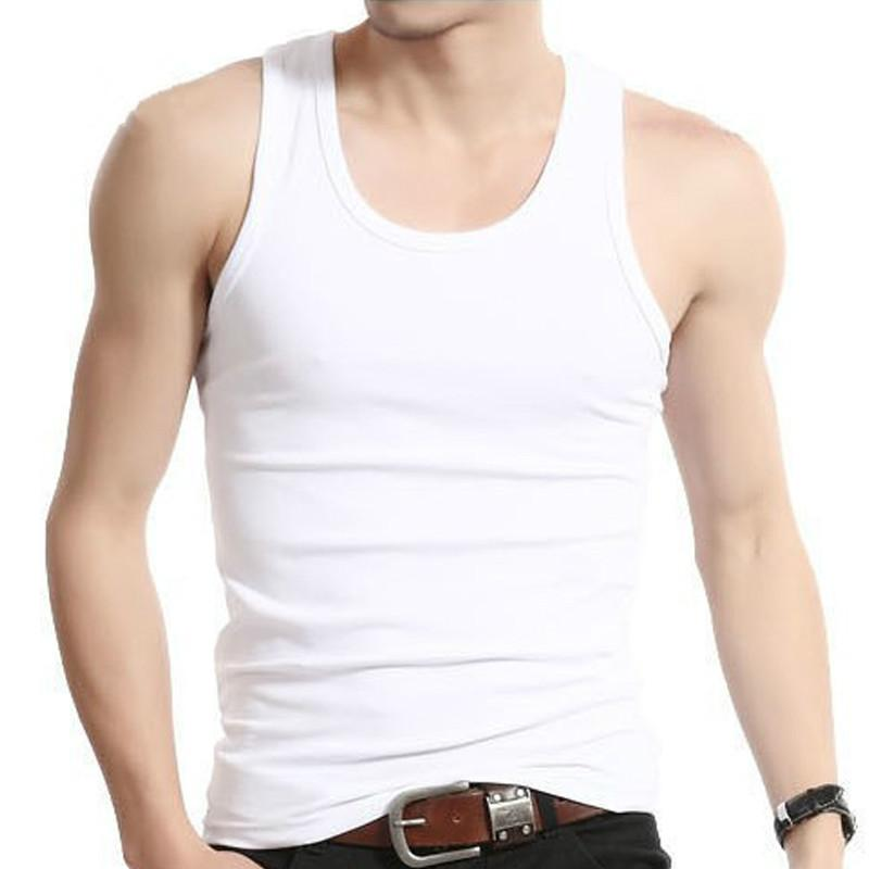 Man's Cotton Solid Seamless Underwear Brand Clothing Mens Sleeveless Tank Vest Comfortableliligla-liligla
