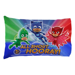 PJ Masks It's Hero Time Standard Pillowcase for Kids - 20 X 30 Inch (1 Piece Pillow Case Only